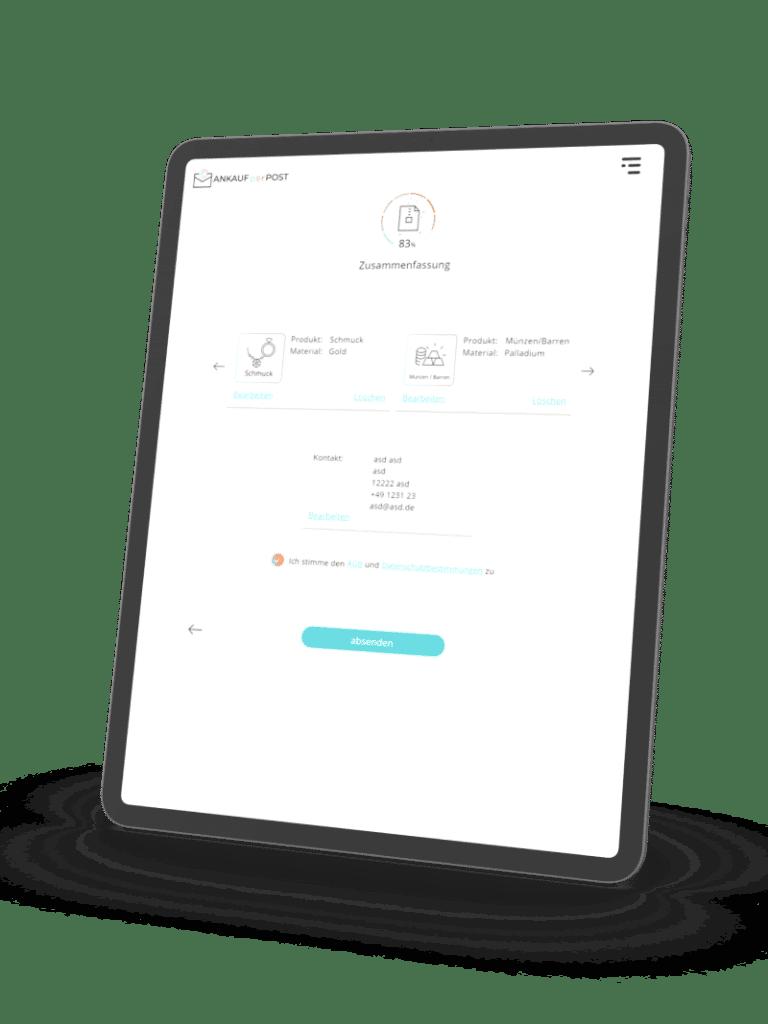 web app tablet